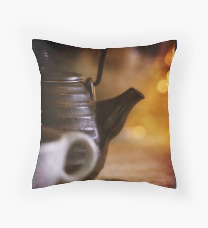 tea party for one Throw Pillow