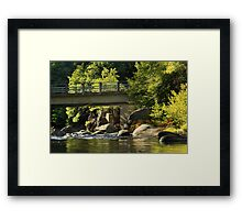 Fishing In Deer Creek Framed Print