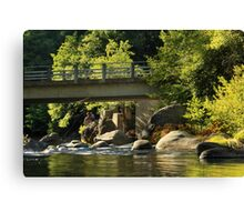 Fishing In Deer Creek Canvas Print