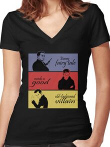 Villains of SuperWhoLock Women's Fitted V-Neck T-Shirt