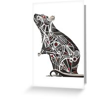 Mechanical Rat Greeting Card