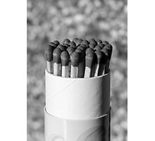 Black and white matches Photographic Print