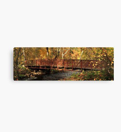 Bridge On Big Chico Creek Canvas Print