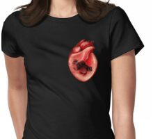 Black Moor Heart Womens Fitted T-Shirt