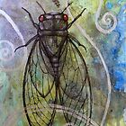 Red-Eyed Cicada by Lynnette Shelley