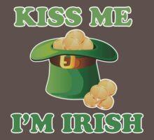 Kiss Me Im Irish Hat St Patricks Day Baby Tee
