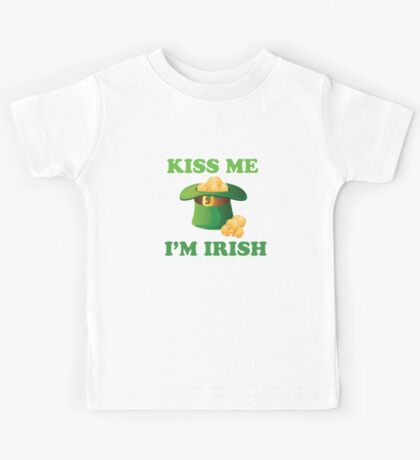 Kiss Me Im Irish Hat St Patricks Day Kids Tee