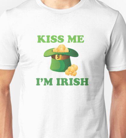 Kiss Me Im Irish Hat St Patricks Day Unisex T-Shirt