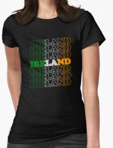Ireland St Patricks Day Flag Womens Fitted T-Shirt