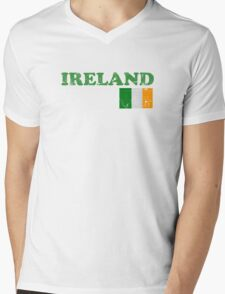 Ireland Vintage Flag St Patricks Day Mens V-Neck T-Shirt
