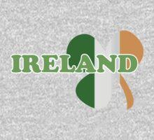 St Patricks Day Irish Flag Clover One Piece - Long Sleeve