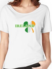 St Patricks Day Irish Flag Clover Women's Relaxed Fit T-Shirt