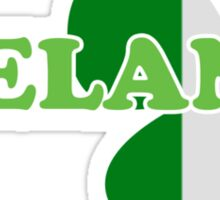 St Patricks Day Irish Flag Clover Sticker