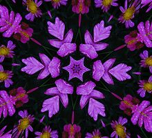 Purple Floral Fractal by Tori Snow