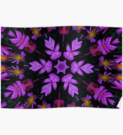 Purple Floral Fractal Poster