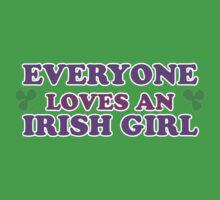 Everyone Loves An Irish Girl St Patricks Day One Piece - Short Sleeve