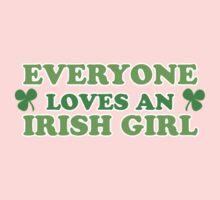 Green Everyone Loves An Irish Girl St Patricks One Piece - Short Sleeve