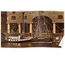 Sailing Ships Snowbird & Zebu. Poster