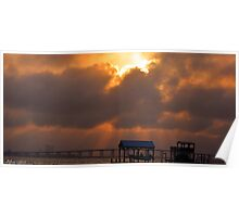 East Beach Sunset Poster