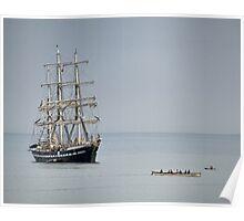 Tall Ship At Lyme Poster