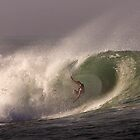 Surfer at Ala Moana Bowls .4 by Alex Preiss