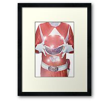 Red Ranger Poster Framed Print
