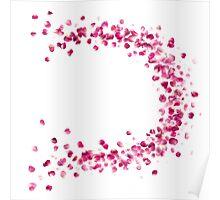 Rose Petals Circle in Pink Poster