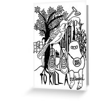 To Kill a Mockingbird (black and white) Greeting Card