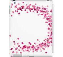 Rose Petals Circle in Pink iPad Case/Skin