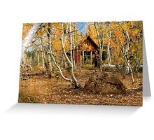 Old Cabin In The Aspens Greeting Card