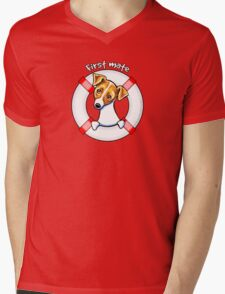 Jack Russell :: First Mate Mens V-Neck T-Shirt