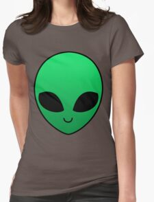 Alien - Green Womens Fitted T-Shirt