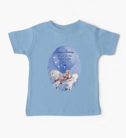 ☀ ツHAPPY BIRTHDAY CHILD TEE SHIRT WITH SCRIPTURE☀ ツ Baby Tee
