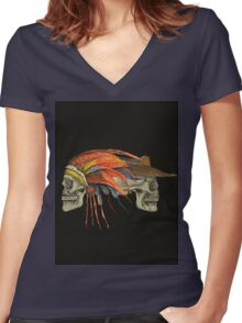 Cowboys and Indians Women's Fitted V-Neck T-Shirt