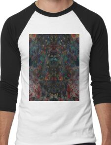 Ink splat design Men's Baseball ¾ T-Shirt