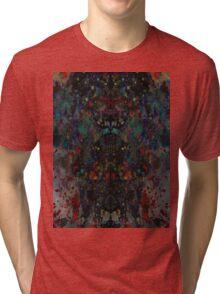 Ink splat design Tri-blend T-Shirt