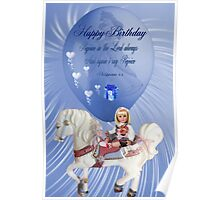 ☀ ツCHILDREN BIRTHDAY CARD/PICTURE WITH SCRIPTURE☀ ツ Poster