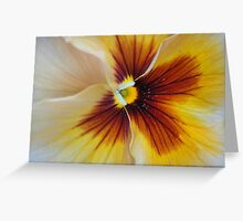 Russet Pansy Greeting Card