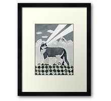 Beaming Cat Framed Print
