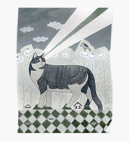Beaming Cat Poster