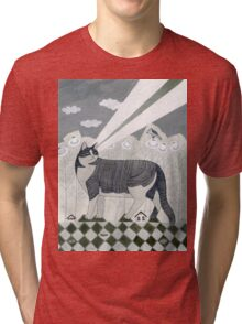 Beaming Cat Tri-blend T-Shirt
