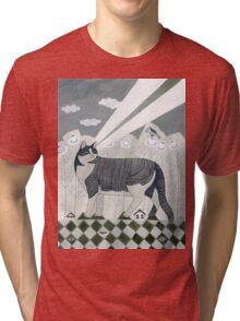 Beaming Cat Tri-blend T-Shirt