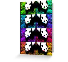 PANDA!monium - rainbow collage Greeting Card