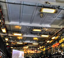 Helicopter Deck of HMS York by David Charlton