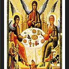 Holy Trinity Icon-1400th Century Reproduction by Robert Burns