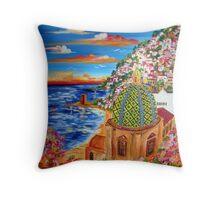 Il Golfo di POSITANO Throw Pillow