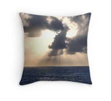 Atlantic Ocean at sunset Throw Pillow