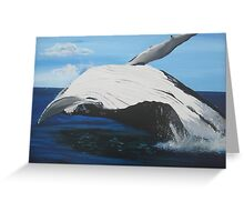 whale in the sea Greeting Card