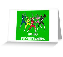 Ho Ho Power Rangers Greeting Card