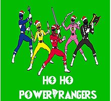 Ho Ho Power Rangers Photographic Print